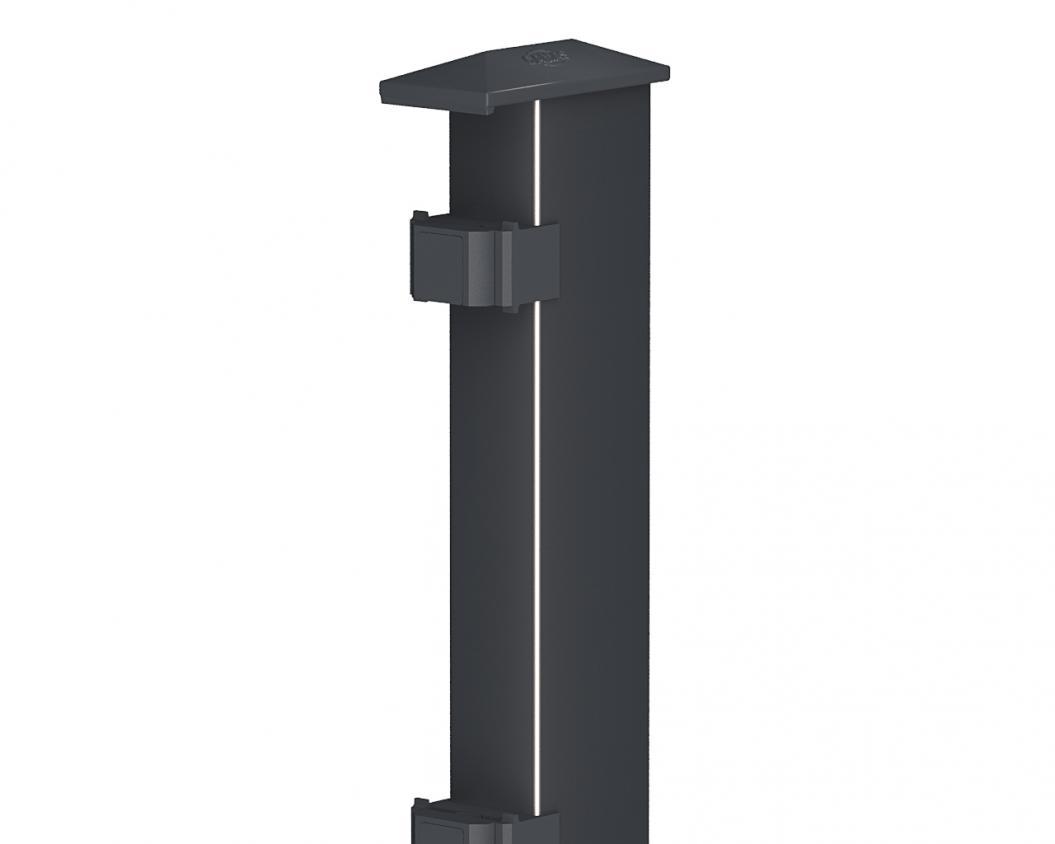 Pfosten Typ 2 anthrazit | 1630  | Standard