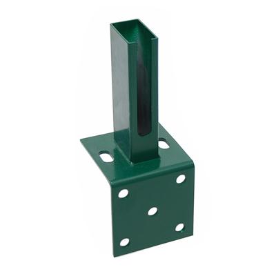 Dübelplatte mit Winkel RAL 6005/grün grün