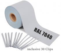 Rolle 65m grau RAL 7040 grau | 65m ( 13m²)