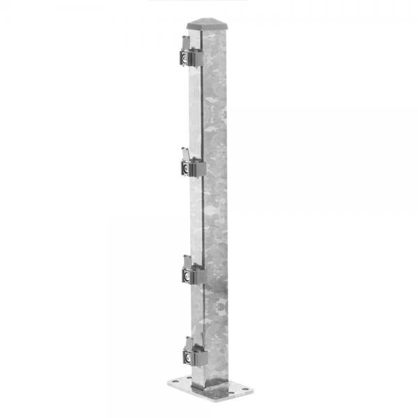 Zaunpfosten Typ 2 mit angeschweißter Dübelplatte feuerverzinkt | 630  | Standard