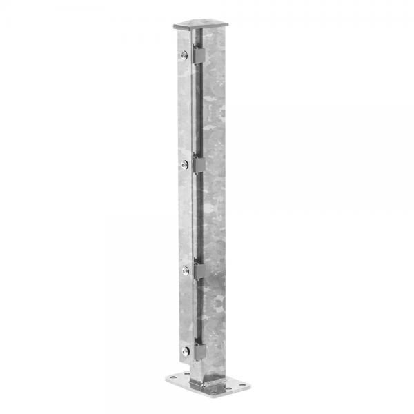 Zaunpfosten Typ 1 mit angeschweißter Dübelplatte feuerverzinkt | 630 | Standard