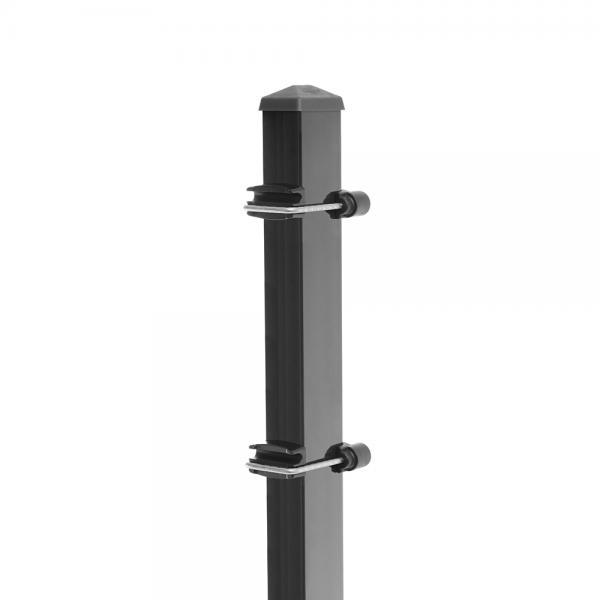 Zaunpfosten Typ 3 - gekürzt anthrazit RAL 7016   630