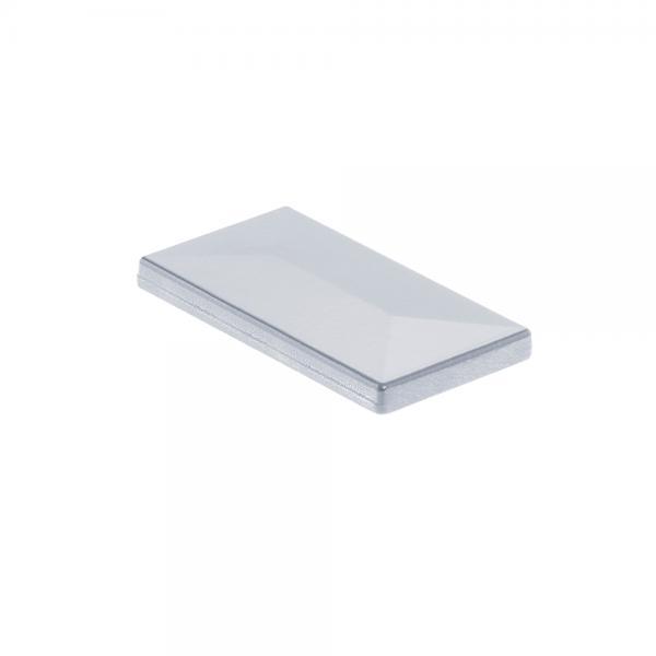 Pfostenkappe 60x40 Aluminium alu natur