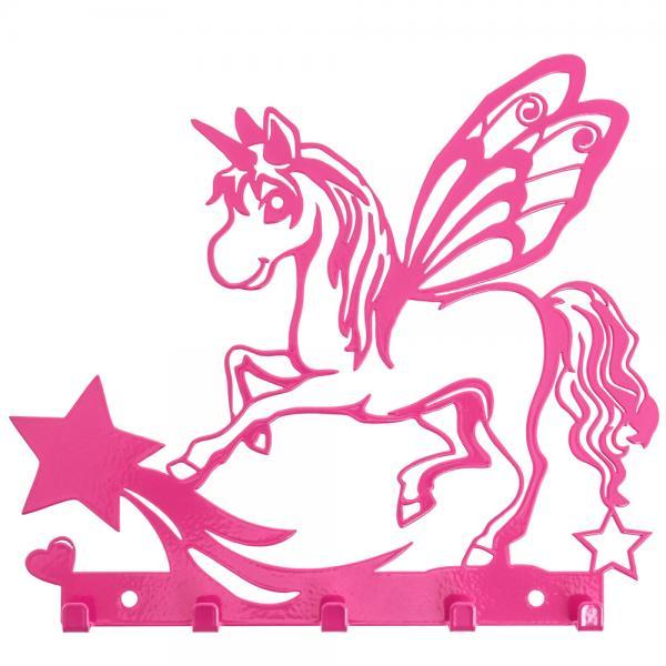 Schlüsselbrett Einhorn mit Sternen Pink