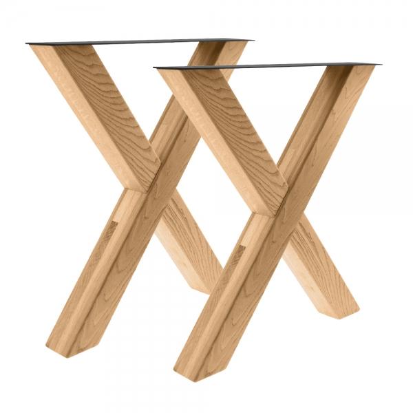 Tischgestell X 80/80 Holz Eiche