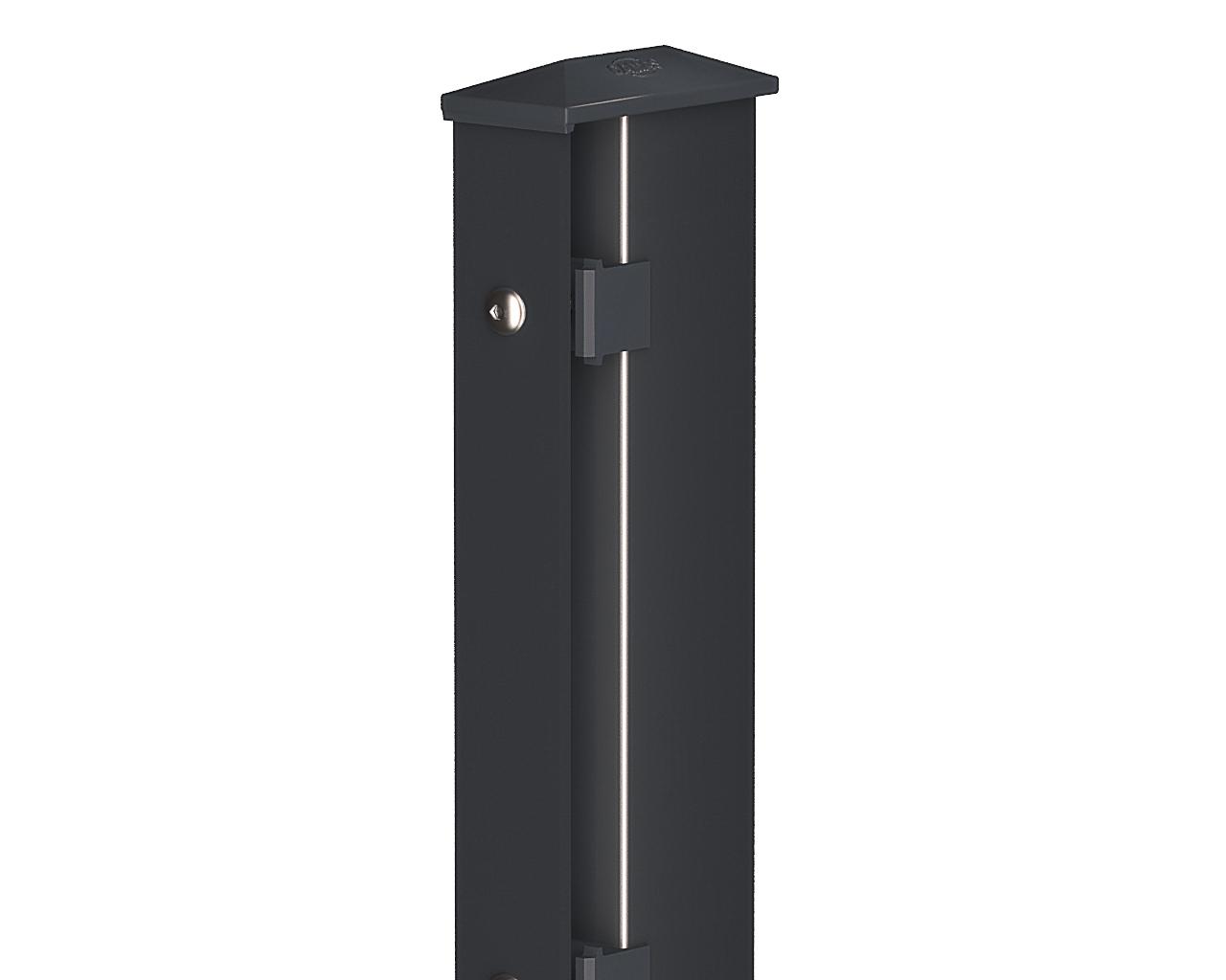 mycamas zaun direkt vom hersteller pfosten typ 1 anthrazit 1630 standard. Black Bedroom Furniture Sets. Home Design Ideas