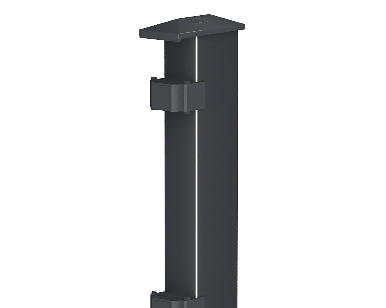 mycamas zaun direkt vom hersteller pfosten typ 2 anthrazit 1830 standard. Black Bedroom Furniture Sets. Home Design Ideas